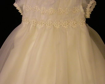 Melissa's Custom Christening or Baptism Gown made to order from your Wedding Dress