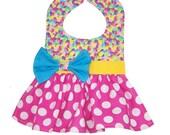 Easter Bib, Childs Bib, Jelly Bean Bib, Special Occasion Bib, Dress Bib, Cupcake Party Bib