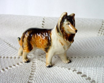 Vintage Collie Dog Figurine Japan