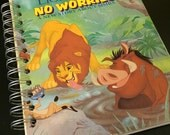 The Lion King No Worries Little Golden Book Recycled Journal Notebook