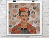 Frida Kahlo print / Homage to Frida Kahlo / A4 / A3 Signed Inkjet Fine Art Print