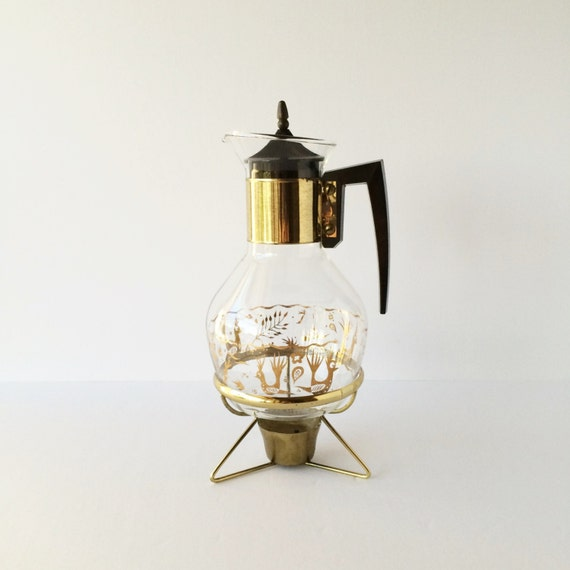 Modern Glass Coffee Maker : Vintage Mid Century Modern Glass Coffee Carafe With Warming