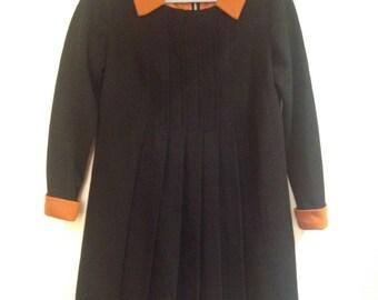 Vintage 60s Mod Mini Dress-form fitting