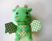 Dragon Baby Toy Fleece Stuffed Embroidered Features-Made to Order