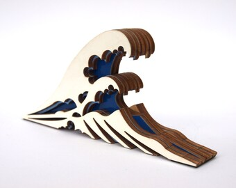The great wave off Kanagawa wooden doorstop