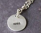 Aquarius Necklace, Minimalist Zodiac Jewelry, Tiny Star Sign, Astrological Pendant, Astrology Symbol, Aquarius Jewellery, Sterling Silver