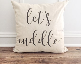 Let's Cuddle Pillow Cover
