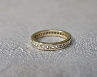 Art Deco Diamond Eternity Ring - 3/4 ct Total - 14K Gold