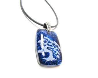 Bonsai Tree  - Dichroic Glass Necklace Pendant