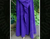 Polar Fleece Cloak with Braid, Pagan Ritual, Handfasting, Witch, Wicca, Druid, LARP, Medieval, Elven