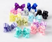 Girls Hair Bows, 2 Inch Bows, Hair Bows, Satin Bows, Toddler Hair Bows, Baby Hair Bows, Hairbows 904