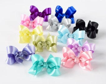 Girls Hair Bows, 2 Inch Bows, Hair Bows, Satin Bows, Toddler Hair Bows, Baby Hair Bows, Hairbows 904