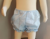 Vintage Girls Baby Blue Bloomers - Sizes 3 and 6 months- New, never worn - Deadstock