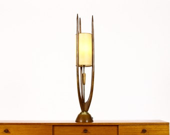 Danish Modern / Mid Century Sculptural Kagan Style / Modeline Floor / Tall Table  Lamp With