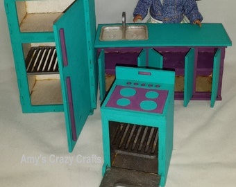 Doll Furniture Kitchen Mini American Girl Middie Unassembled 7inch 17cm  1:12 Scale