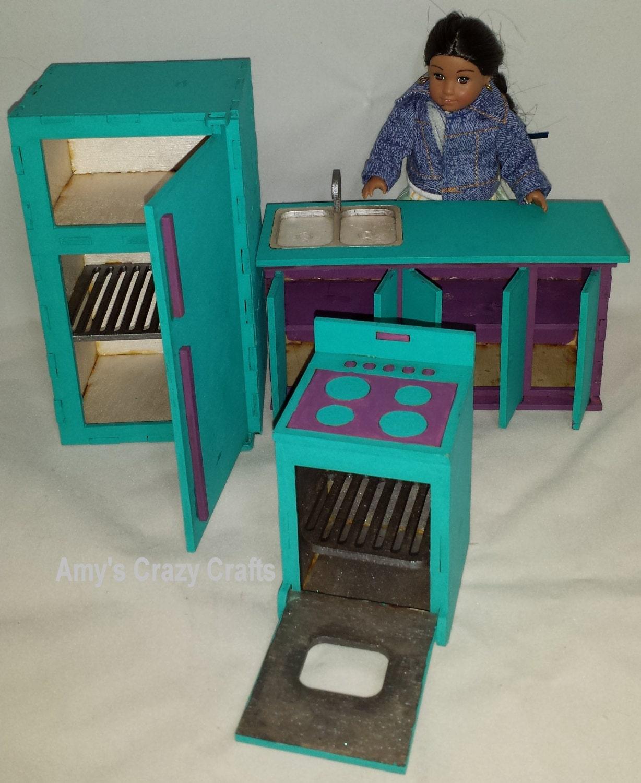 Doll Furniture Kitchen Mini American Girl Middie Unassembled