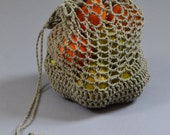 Reusable Grocery bags, Farmers Market Tote, Crochet fruit and veggie bag, Mothers Day gift, gift for Gardner, eco friendly cotton bag