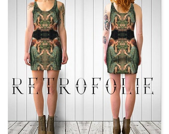 Waterhouse Fitted Dress, soul of a Rose, bodycon dress, tight fitted by retrofolie