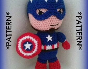 PATTERN ONLY - Crochet Captain America