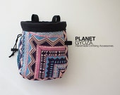 Chalk Bag - Aztec triangle / unique gift for rock climber / large chalk bag