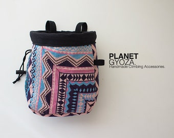 Chalk Bag - Aztec triangle / unique gift for rock climber / large chalk bag