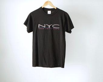 vintage mid 90s NYC club hip hop BLACK vintage t-shirt top