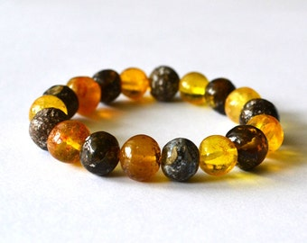 Natural Amber bracelet,  Baltic Amber Jewelry bracelet, Amber Fashion, Natural Gift for her