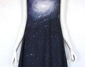 Spiral Galaxy Dress Digital Print Space Geek Chic Cosmically Stylish