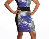 Global CEO Power Dress - NASA Satellite Image Dress - Hurricane Weather Print