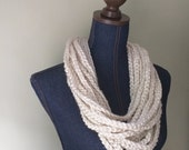 Winter White Scarf Neckla...