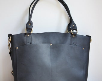 Tote bag leather black