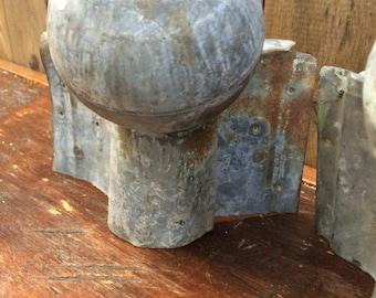 Antique Architectural Galvanized Metal Post Finials