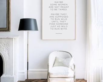 Carrie Bradshaw Quote Print - Sex and The City Print - Home Decor - Wall Art