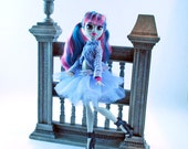 Monster doll handmade couture tutu skirt and sweater Monster doll clothes