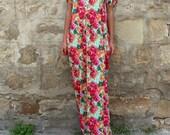 Floral Caftan Maxi Dress, Floral Caftan Summer Maxi Dress, Floral Caftan Maxi Beach Dress, Casual Floral Maxi Dress,Floral Caftan Maxi Dress
