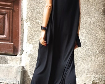 NEW Collection AW Black Viscose  Jumpsuit  / Extravagant Loose Jumpsuit  both long sleeves and sleeveless  by AAKASHA A19316