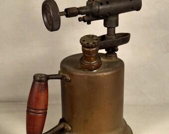 Blow Torch Antique Brass Otto Bernz Co Steampunk Decor