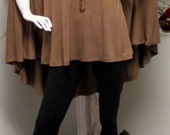 The Ultimate Summer Cold shoulder Magic Poncho tunic in Lagenlook, Designer,comfortable and Trendy.