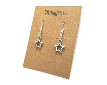 Star Earrings, Star Jewellery, Star Jewelry, Stars Earrings, Star Charms