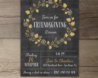 Friendsgiving Dinner Invitation • Invites • fall party • DIY printable