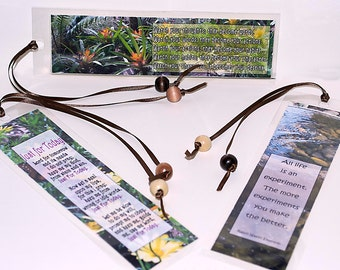 Inspirational Nature photo Bookmarks