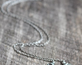 Long Boho Necklace, Gypsy Jewelry, Long Gypsy Necklace, Ethic Style Necklace, Crescent Necklace