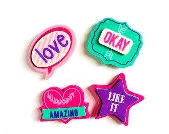 Set of 4 Cute 3D Erasers