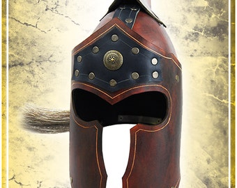 Roman Fantasy Leather Helm