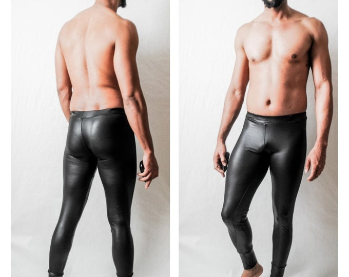 Stretch Latex Jersey Coated Jesey Leather like look