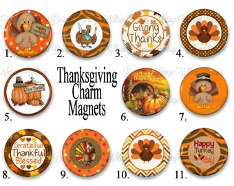 Thanksgiving Charm Magnets ~ Your Choice of One Magnet ~