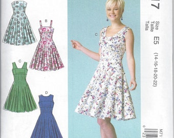 McCall's M7117 - Misses' Dress Sewing Pattern - Sizes 14-22