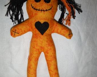 Orange Voodoo Doll