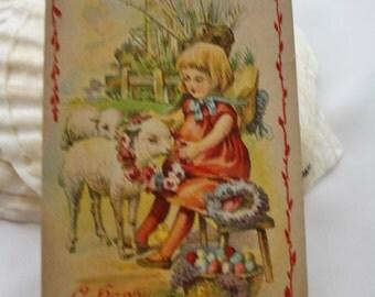 A Happy Easter 1911 Vintage PostCard - Postmarked Marietta Oklahoma
