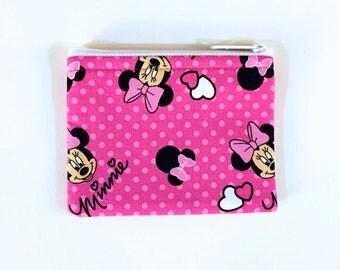 Polka Minnie Dot Coin Purse - Minnie Mouse - Coin Bag - Pouch - Accessory - Gift